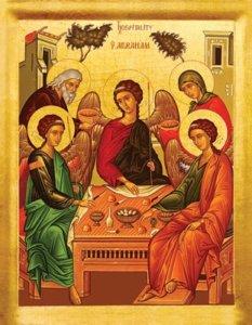 The Hospitality of Abraham - scene in Genesis 18:1-15